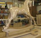 rocking horse in workshop